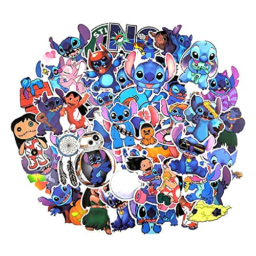 52Pcs Classic Lilo Monster Stitch Stickers for Water Bottle Laptops Skateboards Luggage Cars Snowboard DIY Decoration