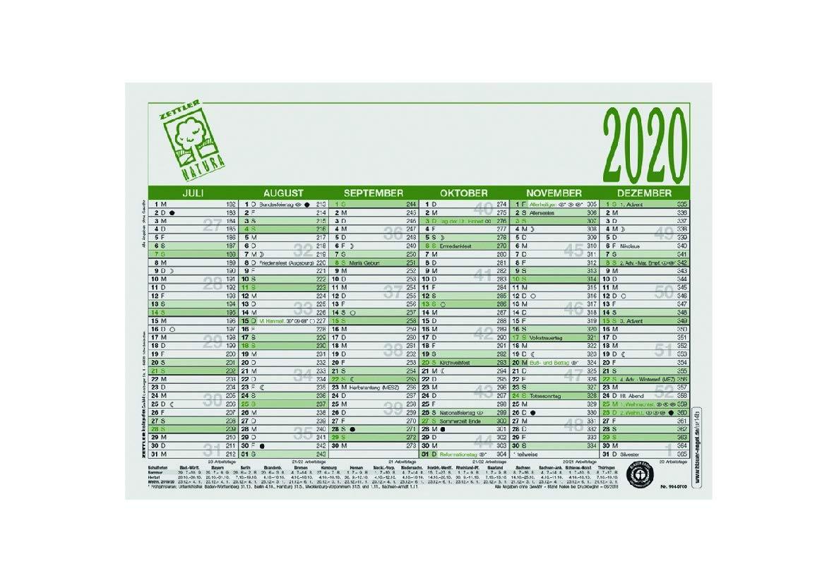 Zettler Kalender Arbeitstagekalender A4 6M//1S UWS Bl. Engel