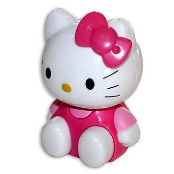 Hello Kitty HK0024 - Altavoz portátil recargable con la forma del personaje, incluye conector de 3,5 mm y llavero, color rosa