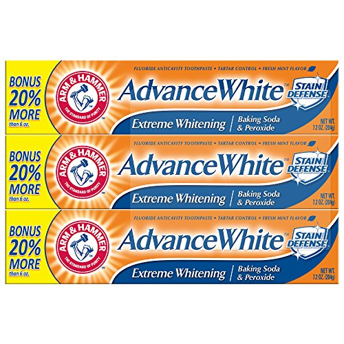 (Product of Arm & Hammer AdvanceWhite Extreme Whitening Toothpaste, 3 pk./7.2 oz. - Toothpaste [Bulk Savings])