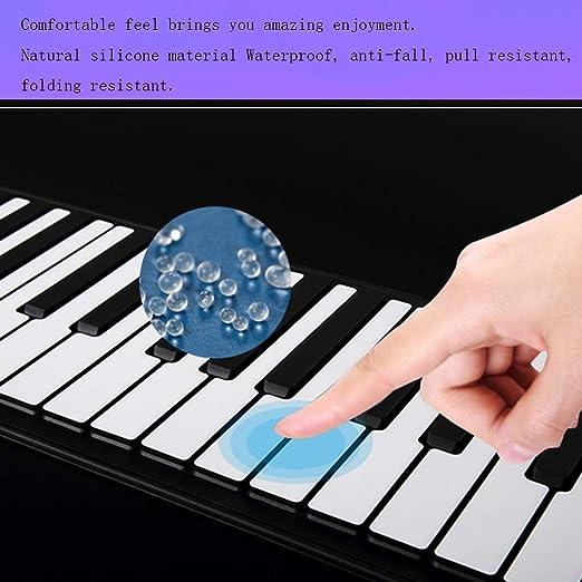 Pianos Teclados Enrollado a Mano 49 Teclas Inteligente niños Teclado practicante Teclado casero Regalo Popular Teclados electrónicos (Color : 49 Key): ...