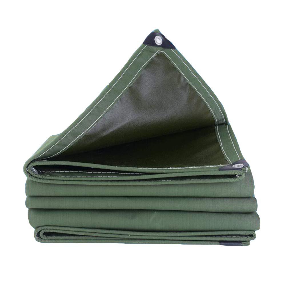 DALL ターポリン 厚い 防水 耐寒性 日焼け止め タープ 絶縁 耐食性 不凍液 (色 : 緑, サイズ さいず : 4×5m) 4×5m 緑 B07KWLZ1CK