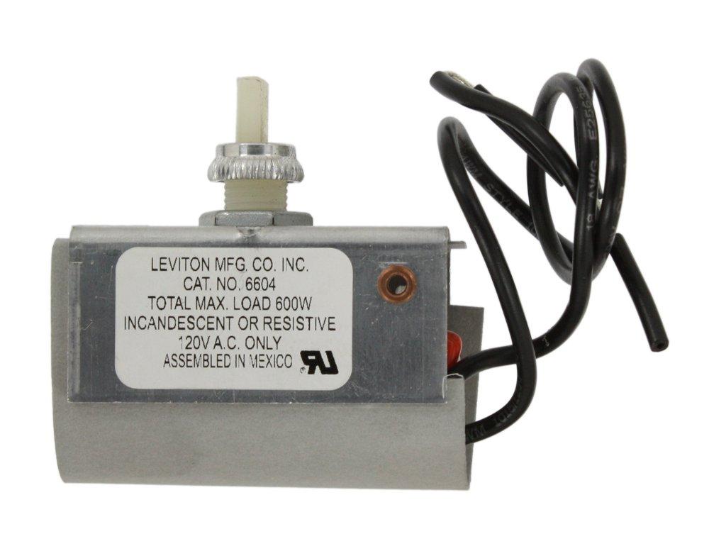 Leviton 6604-2 600W Incandescent Dimmer, Single Pole, Plastic, Free ...
