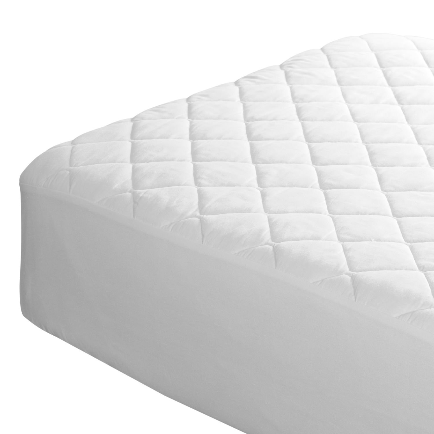Easy Care Percale Diamond Quilted Mattress Protector Fitted 30cm/12in Deep Anti Dustmite & Non Allergenic Topper (King Bed) Linens World
