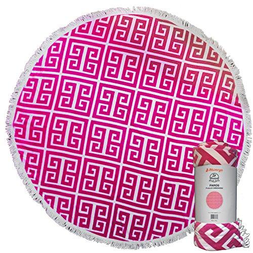 - Mimosa Inc 5ft Paros Round Beach Towel,