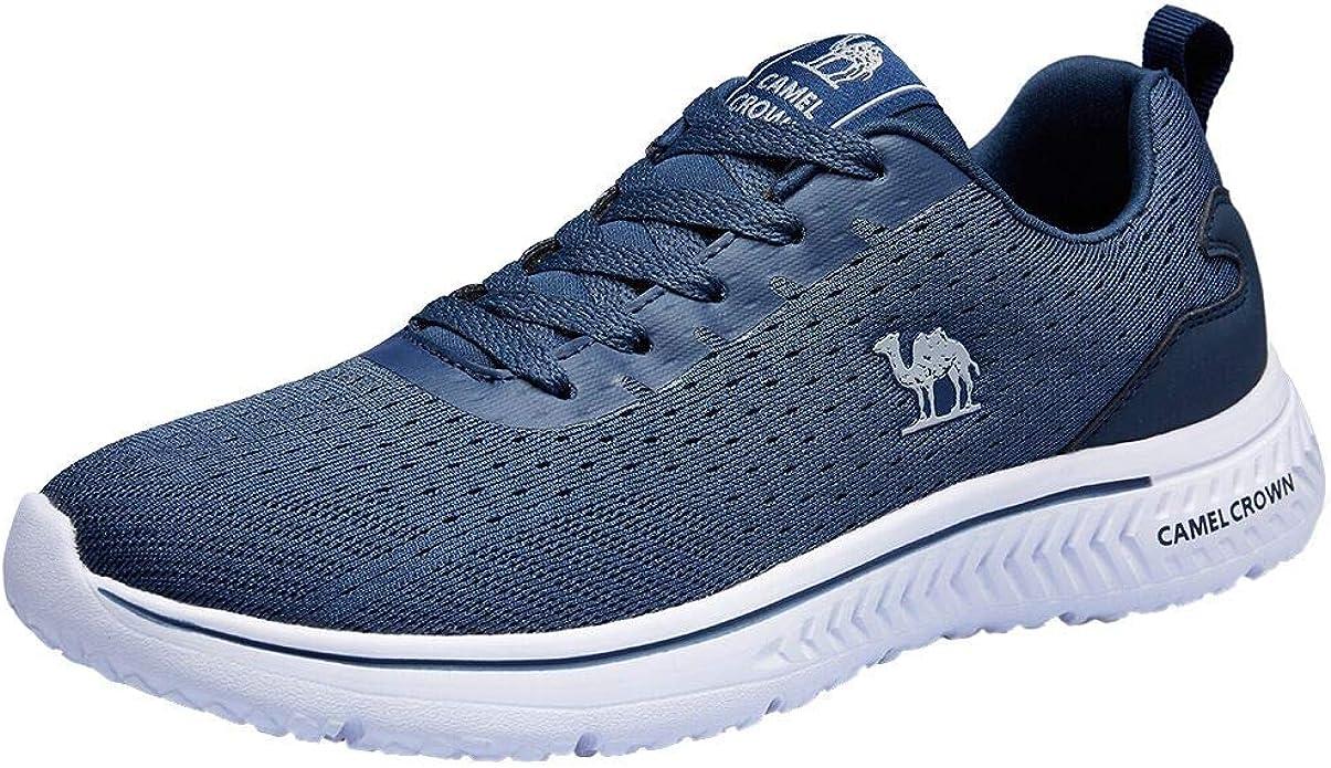 CAMEL CROWN Camel Road Running Shoes formadores ocasionales zapatos atléticos de la zapatilla de deporte Deportes para caminar Gimnasio viaje para Hombre 47.5 de EE.UU. Azul Azul: Amazon.es: Zapatos y complementos