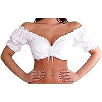 Thetru Dirndlblouse wit maat 38 Carmenblouse Oktoberfest blouse Dirndl klederdrachtmode