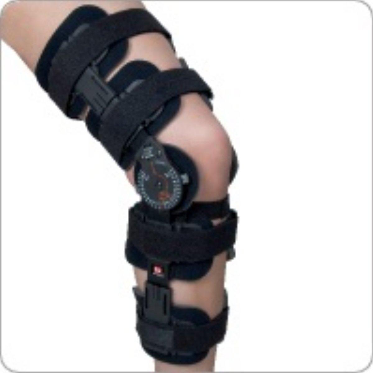 Revolution 3 Post Op Hinged Knee Brace, Front Closure Long
