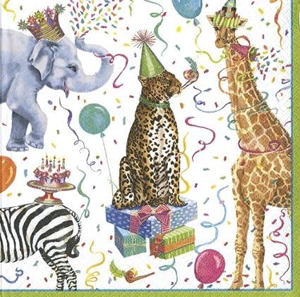 Entertaining with Caspari Party Animals Luncheon Napkins Pack of 20  sc 1 st  Amazon.com & Amazon.com: Entertaining with Caspari Party Animals Luncheon ...
