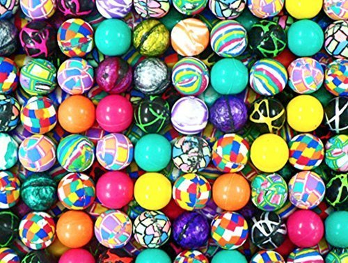 (100 superballs high bounce bouncy balls 27 mm 1 inch vending machine balls BY DISCOUNT PARTY AND NOVELTY TM)