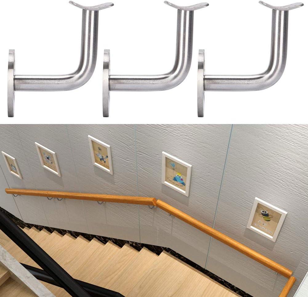 pour balustrade en acier inoxydable Lot de 4 supports de rampe descalier