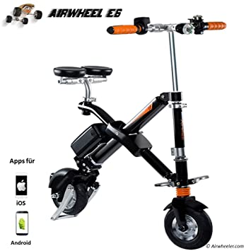 Airwheel E6, Scooter eléctrico Plegable Hombre, Hombre, E6, Negro, M