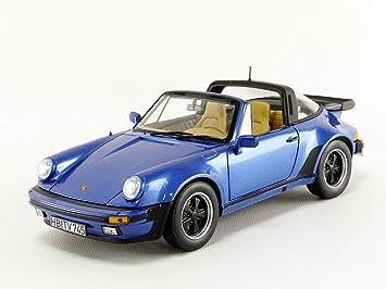 Norev® NV187663 1:18 1987 Porsche 911 Turbo Targa Metálico, Azul: Amazon.es: Juguetes y juegos
