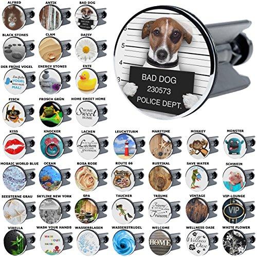 Waschbeckenstöpsel Bad Dog, viele schöne Waschbeckenstöpsel zur Auswahl, hochwertige Qualität ✶✶✶✶✶