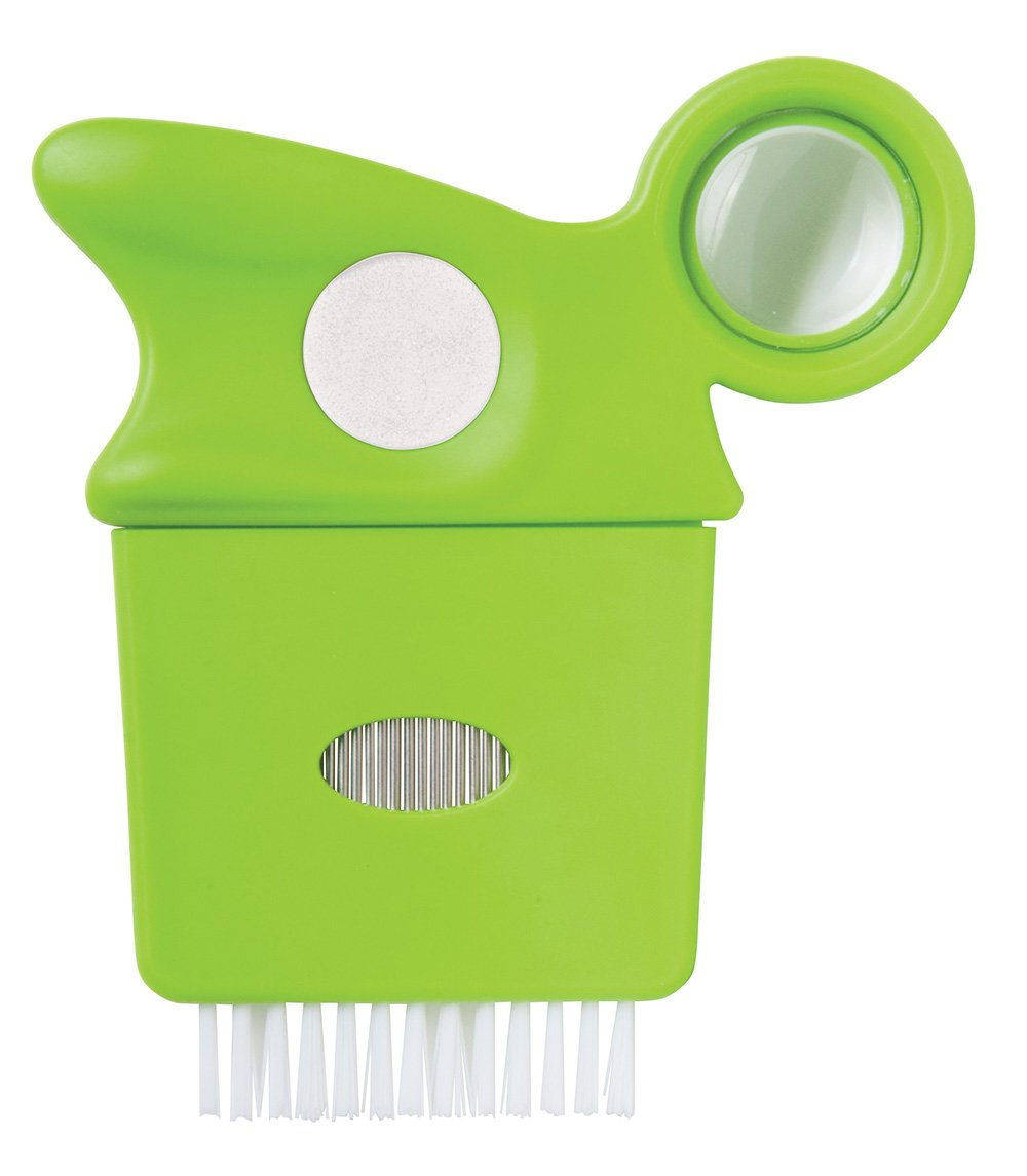 Diane Lice Comb with Magnifying Glass, Green Fromm International DBC019