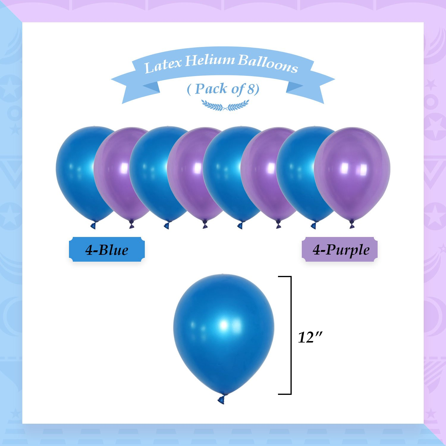 YoTruth Purple and Blue Happy Birthday Decorations for Birthday Party Hanging Decorations Set with Birthday Banner Pom poms Flowers Balloons Sparking gold stars garlands bunting
