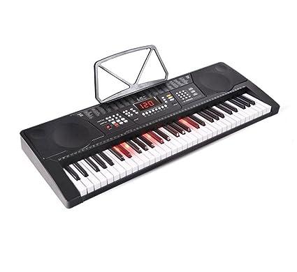 QXMEI Teclado Multifuncional para Niños Adultos Teclado para Piano con 61 Teclas Enseñanza Inteligente De Iluminación