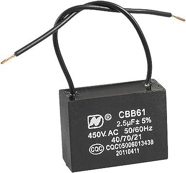 No polar AC 450V 2.5uF techo con conexión de cable del motor del ...