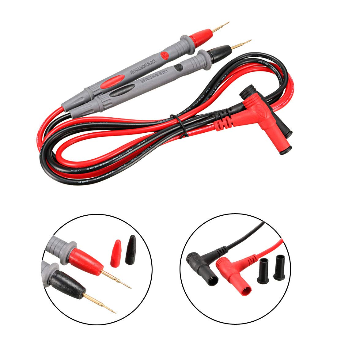 24-in-1 Set Digital Multimeter Probe Tester Lead Wire Pen Cable with Alligator Clips,1000V 10A//20A uxcell Multimeter Test Leads