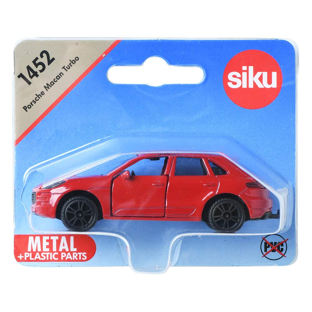 Amazon.com: Siku 1452 Porsche Macan Turbo Red Diecast Model Toy: Toys & Games