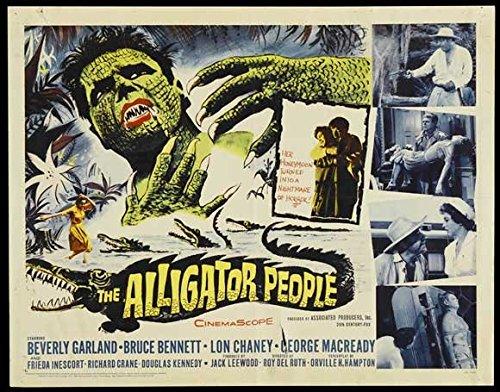 The Alligator People Poster B 27x40 Beverly Garland Bruce Bennett Lon Chaney - Bennett Alligator