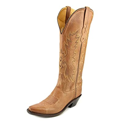 Amazon.com | Old West Women's Distressed Leather Cowgirl Boot Snip ...