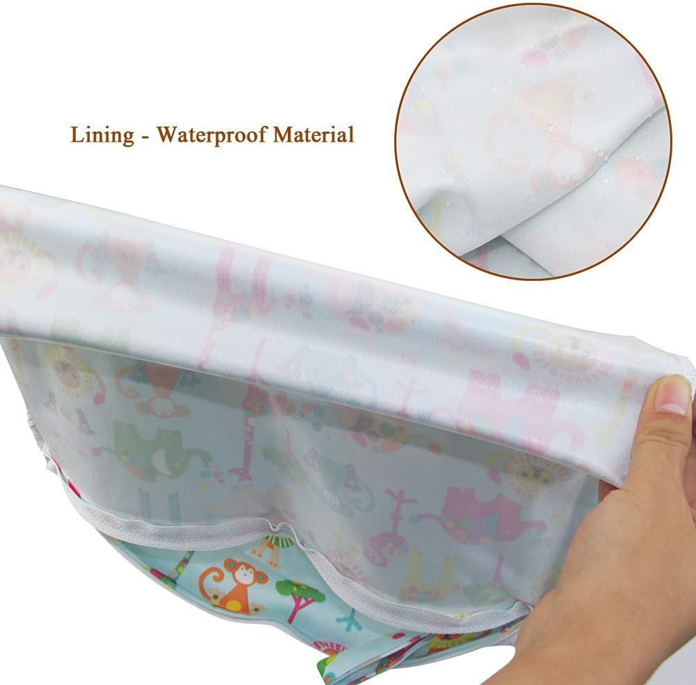 Blue Baby Waterproof Reusable Wet and Dry Baby Diaper Bag Organizer Pouch Double Zipper Printing Diaper Bag TM iZiv