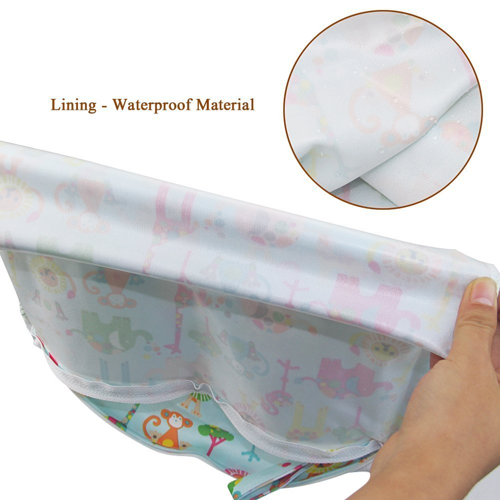 iZiv Baby Waterproof Reusable Wet and Dry Baby Diaper Bag Organizer Pouch Double Zipper Printing Diaper Bag TM Red