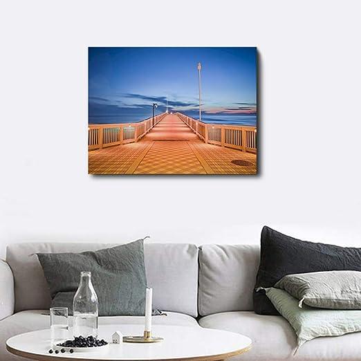 Carteles e Impresiones Abstractos Sea Road Night Light Box ...