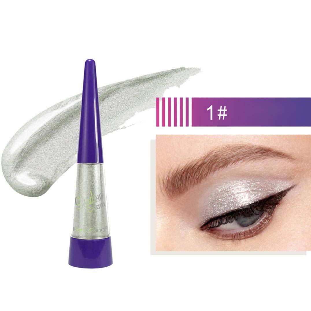 SMILEQ Beauty Metallic Shiny Smoky Eyes Eyeshadow Waterproof Glitter Liquid Eyeliner