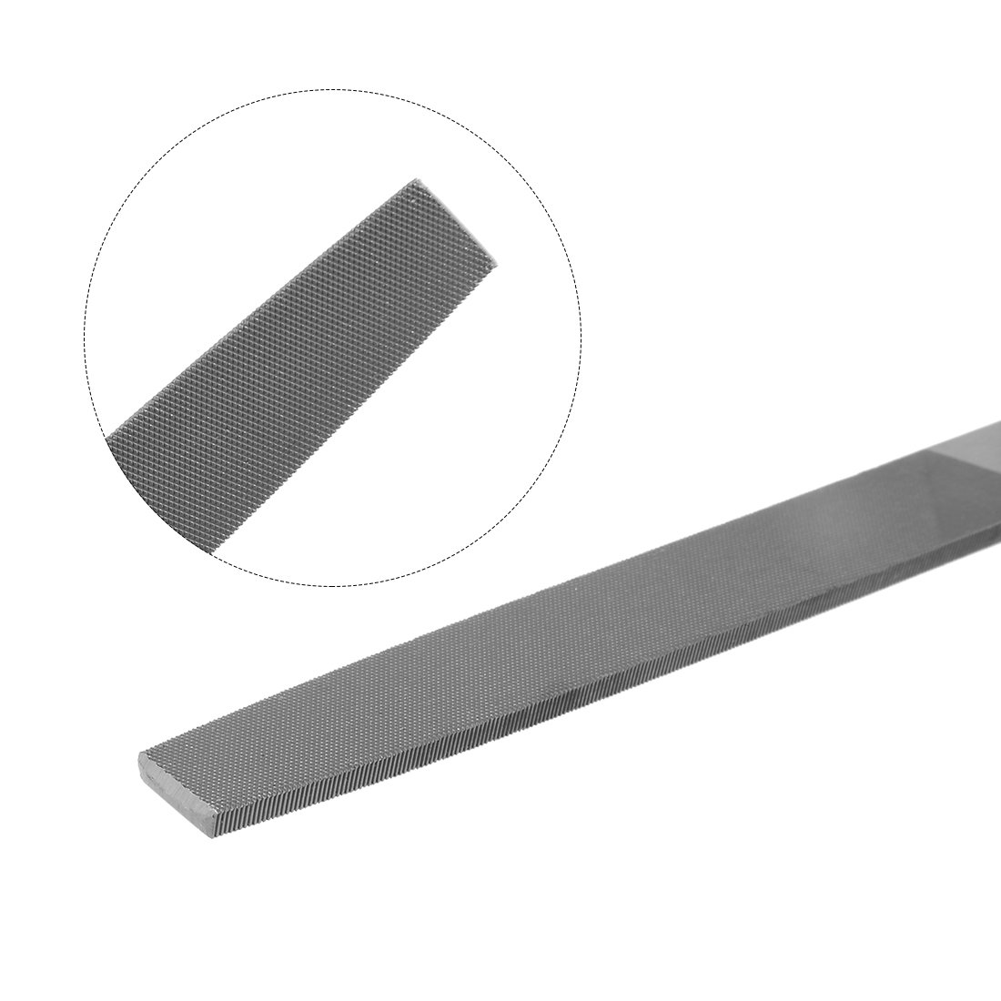 sourcingmap Second Cut Grade High Carbon Hardened Steel Flat Mill File with Rubber Hand Grip Handle 10-Inch