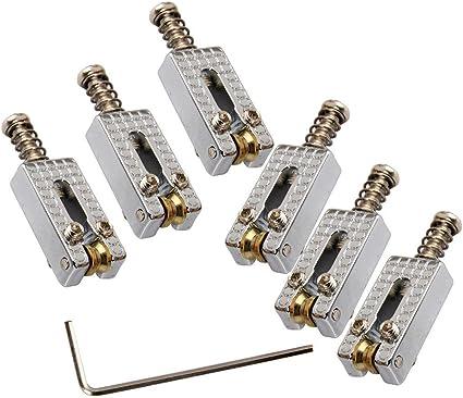 Chrome 6 string guitar bridge chrome bridge part MOD electric guitar parts