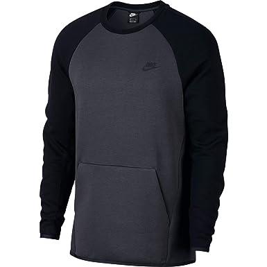7752435bdba Nike Mens Tech Fleece Crew Fleece Sweatshirt Anthracite Black 928471-060  Size 2X-Large  Amazon.co.uk  Clothing