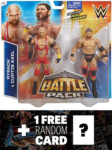 Curtis Axel & Ryback w/ Rib Wrapping: WWE Battle Pack Action Figure Series + 1 FREE Official WWE Trading Card Bundle