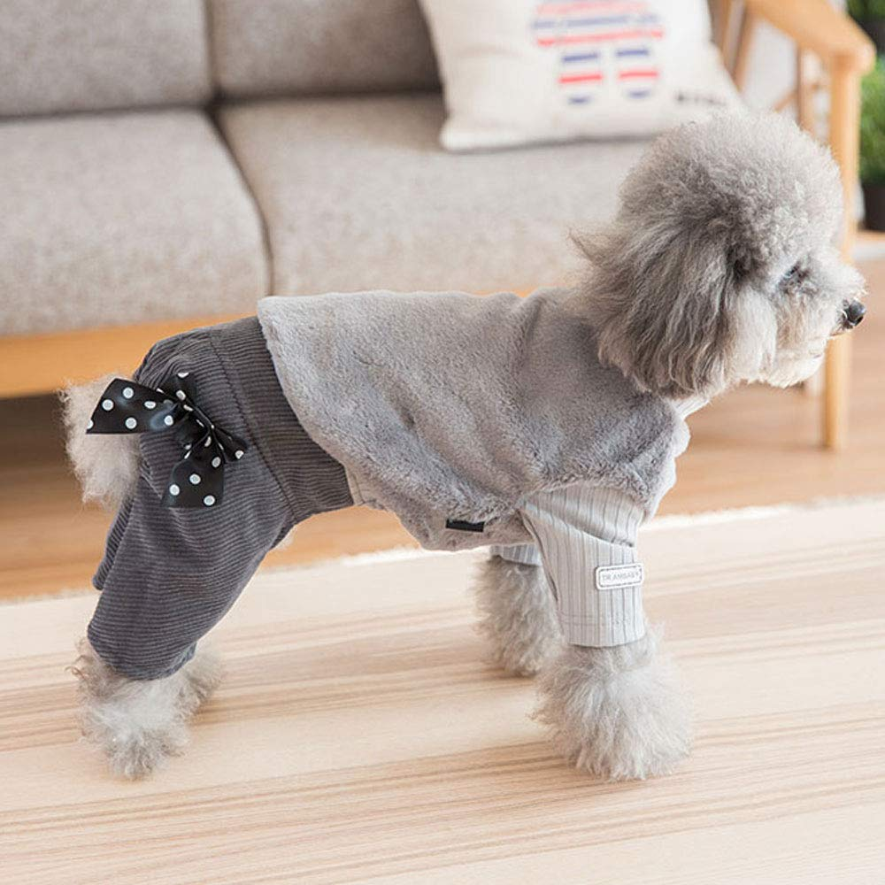 Amazon.com: YUNHAO Siamese Hair Vest Vest Dog Clothes Teddy Bear Small Dog Pet Autumn Thick Warm Four-Foot Cotton Coat Round Neck Jumpsuit Grass Vest New ...