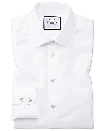 Charles Tyrwhitt Slim Fit Non Iron Twill Shirt Classic Collar White