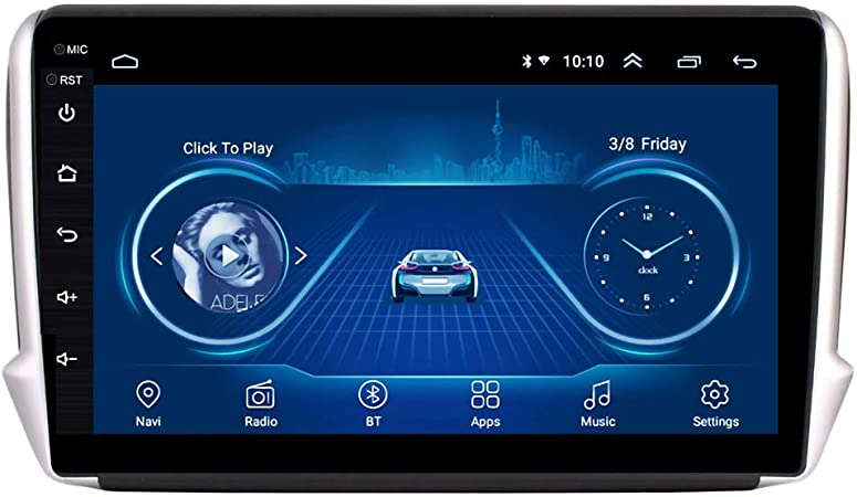 Dr Lefran 10 1 Zoll Android 10 Auto Gps Multimedia Für Peugeot 2008 208 Serie 2014 2018 Navigations Player 4g Wifi 1g 32g Sport Freizeit