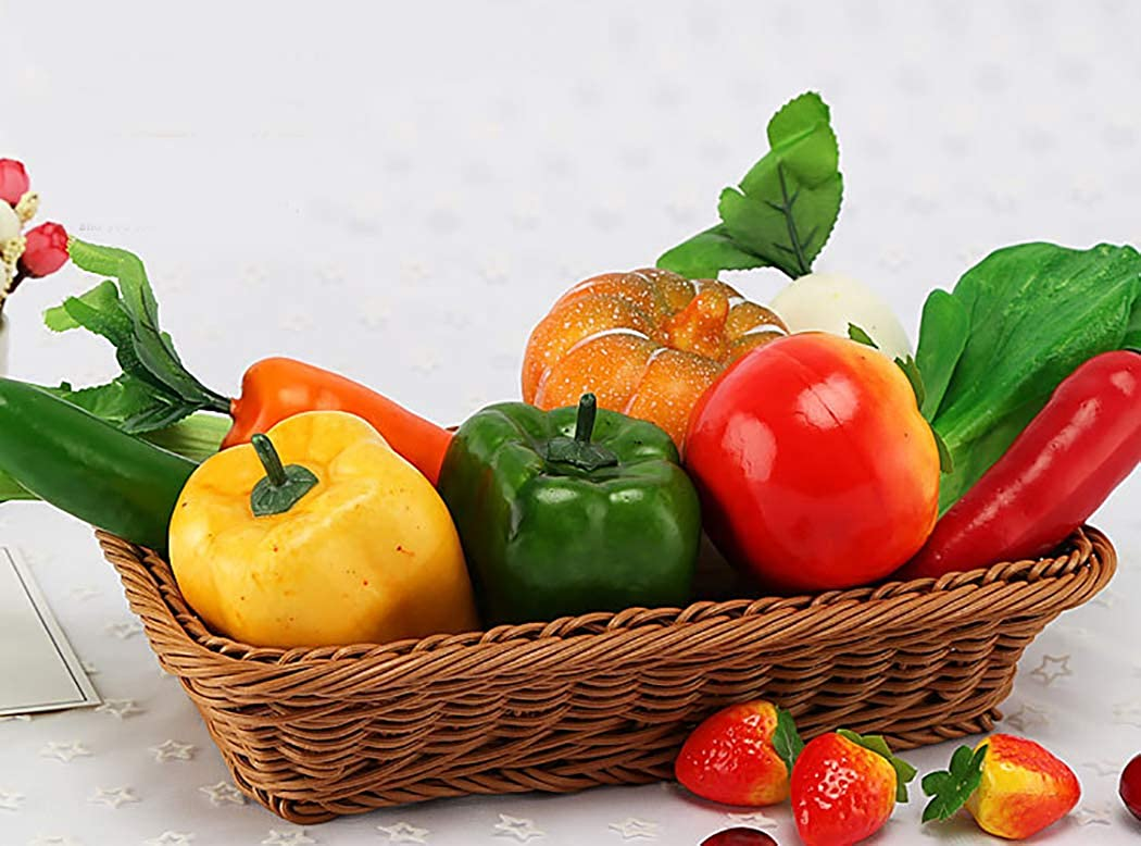 Zoylink 3PCS Artificial Pepper Decorative Lifelike Artificial Vegetable Photo Prop