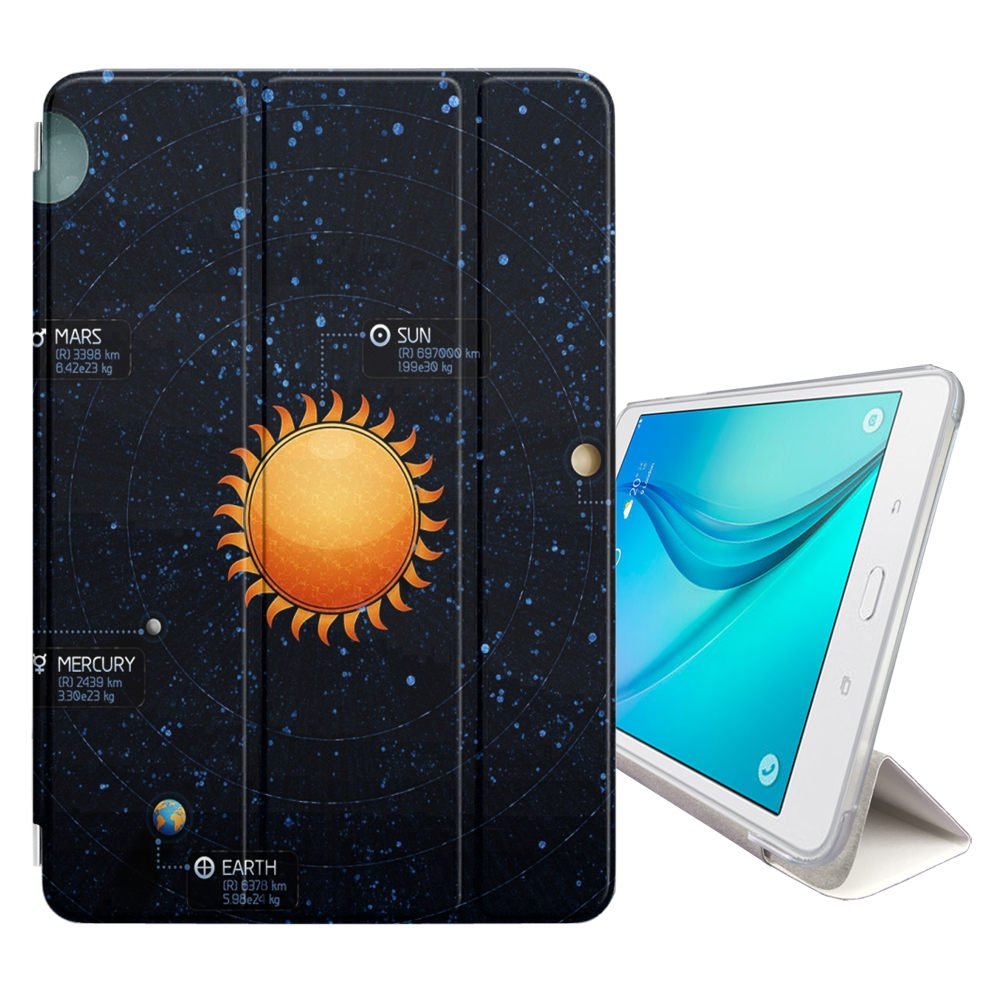 Graphic4You Solar System Map Space Astrology Design Ultra Slim Case Smart Cover Stand [with Sleep/Wake Function] for Samsung Galaxy Tab A 7.0'' (2016) (T280/T285 Series)