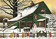 """Buffalo Games - Charles Wysocki - Cocoa Break at The Copperfields - 500 Piece Jigsaw Puzzle Multi, 21.25"""""""