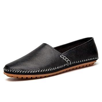 HhGold Mocasines para Hombres Zapatos, Minimalismo para Hombres Mocasines Cuero de PU Noble Cómodo Color