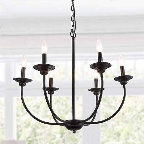 Amazon.com: LALUZ - Lámpara de araña con 6 luces, A03232 ...
