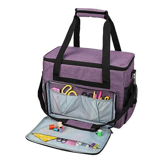 Bolsa para máquina de coser, bolsa de protección de almacenamiento, bolsa de viaje portátil para la mayoría de máquinas de coser estándar y accesorios ...