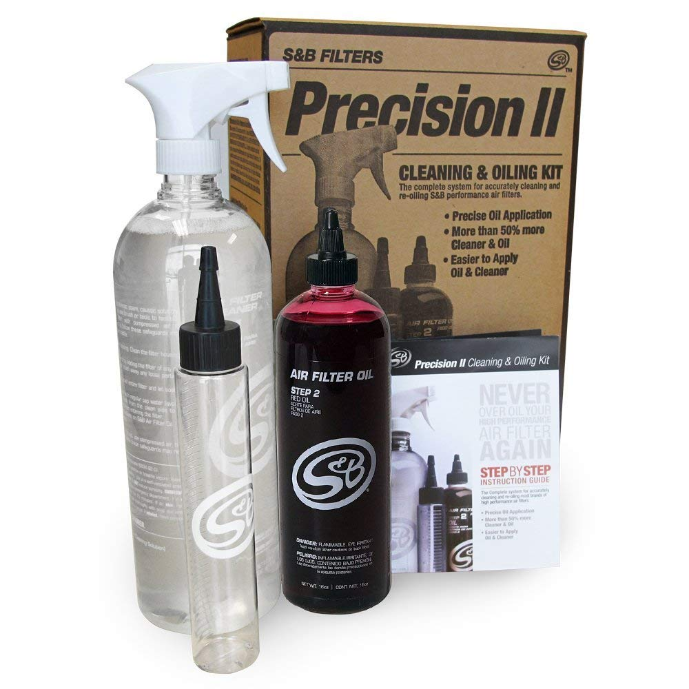 S&B Filters 88-0008 Precision II Cleaning & Oil Kit (Red Oil)