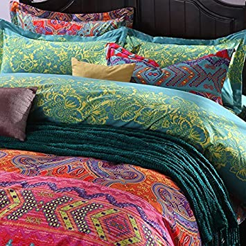 set boho bohemian quilt tan products mehendi deco stunning vintage gold b bedding bedspread art duvet mandala cover teal artbedding