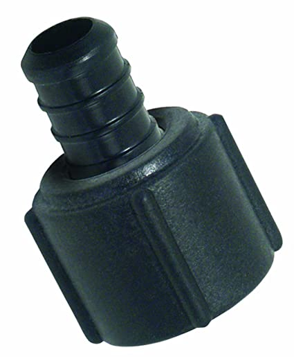 Watts 25P-08 Poly Alloy PEX Faucet Swivel Adapter 1/2-Inch Barb x 1 ...