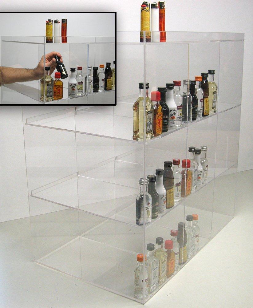 Commercial Retail Display for Mini Sampler 50ml Liquor Shot Airplane Bottles Nips Also Any Other Point of Sale Items by RCS Plastics (Image #3)