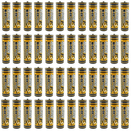 (50-Pack) HyperPS 1.2V AA 700mAh Ni-Cd NiCd Rechargeable Battery For NiCd Solar Panel Light Lamp, RC Toy