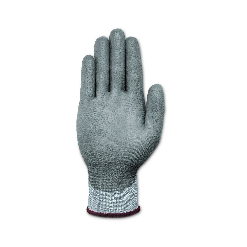 Ansell 116277 HyFlex 11-627 Coated Dipped Dyneema HPPE and LYCRA Lined Gloves, 9'' Length, 5'' Width, 0.29'' Height, Size 7, Gray (Pack of 12) by Ansell (Image #3)