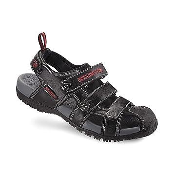 6d8808afbe5 Exustar SS503 Sandal Shoes Exustar Sandal Ss503 43-44 Bk  Amazon.co ...